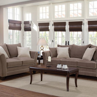 Bing Antler Sofa and Loveseat