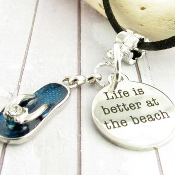 Beach Quote Cord Necklace
