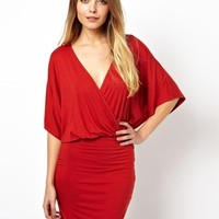 ASOS Mini Dress With Cross Front And Batwing