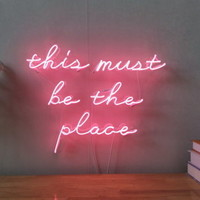 New This Must Be The Place Neon Sign For Home Decor Artwork Light With Dimmer