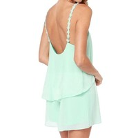 Amazon.com: Lovaru Hollow Out White Ladies Sleeveless Mini Dress green