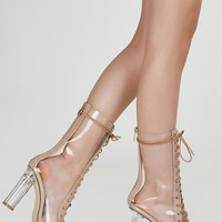 Nude Attitude Lace Up Boots