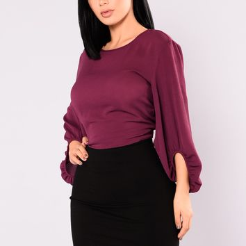 Simply Kind Bubble Top - Plum