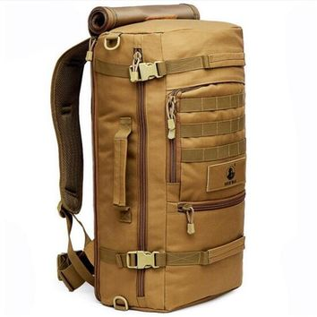 Waterproof Nylon Fashion Male Laptop Backpack Casual Female Travel Rucksack Camouflage Army Bag 60L Men Women Military Backpacks