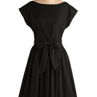 Black by Popular Demand Dress | Mod Retro Vintage Dresses | ModCloth.com