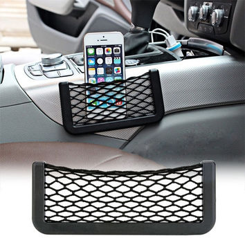 Car Vehicle Storage Net String Pouch Bag GPS Phone Holder Pocket Organizer  7_S