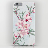 Peach Blossom Flowers iPhone & iPod Case by Colorful Art