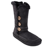 Journee Collection Girls Fur Trimmed Zippered Button Detail Boots