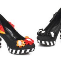 "Women's 4"" Heel Flower W/ Skull Pump"