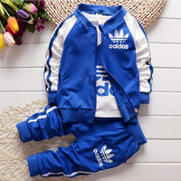 children clothing set 3pc/set Boys Girls Boys Autumn Coats And Jackets Pants Set Fashion Toddler Clothing Sports Suit SYHB730805