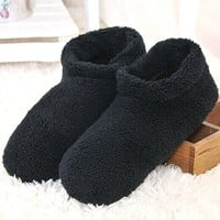 New Large Size Winter Floor Slippers Unisex Indoor Soft-Soled Slippers Soft and Warm Non-Slip Wooden Floor Indoor Slippers