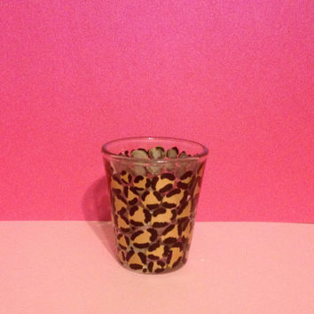 Small Leopard Print Shot Glass