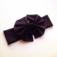 Black big bow headwrap