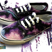 Custom Galaxy canvas shoes style of Vans/Toms by MyCustomKicks