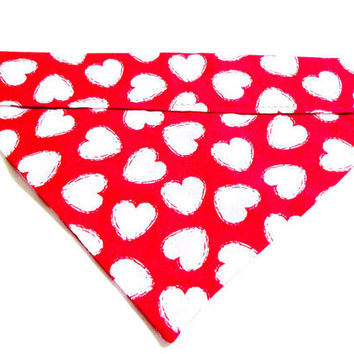 Valentines Day Dog Collar Bandana by forpawsandhome on Etsy