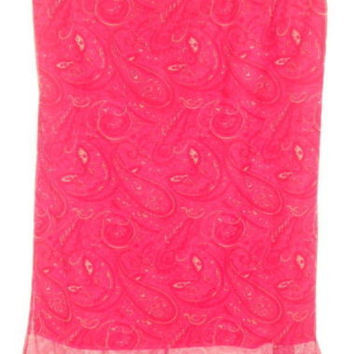 Pink layered Skirt Juniors Sz large Sunfire Paisley  Womens Sm Med