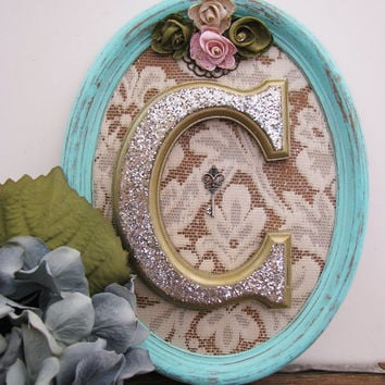 Shabby Chic Wood Letter C Initial Wedding Decoration