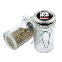 Glass Stash Jar - Mickey Mouse Obey - 75ml Storage Container - Secret Stash Box for Custom Herb Grinder - Stay Fresh Herbs 1/6 oz.