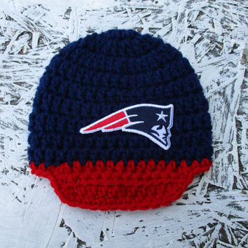 New England Patriots Beanie Newborn Baby Photo Prop