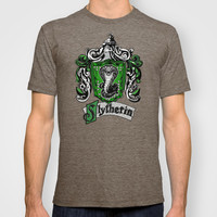 Harry potter Slytherin team flag Adult Tee T-shirt by Three Second