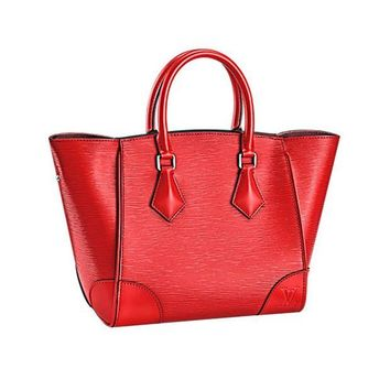 DCK4S2 Authentic Louis Vuitton Epi Leather Phenix MM Bag Handbag Coquelicot Article: M50589 Made in Italy