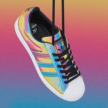 Adidas clover superstar men's and women's classic sneakers
