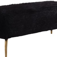 Tiffany Black Fur Bench