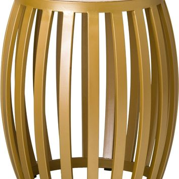 Meridian Metal Stool/Table With A Gold Powder Coat
