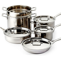 Le Creuset, 10-Pc Stainless Steel Cookware Set, Cookware Sets