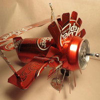 Airplane Wind Chime Made From Dr Pepper Cans