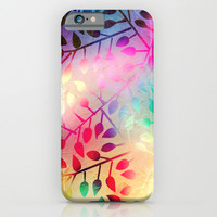 BRIGHT LEAVES - for iphone iPhone & iPod Case by Simone Morana Cyla