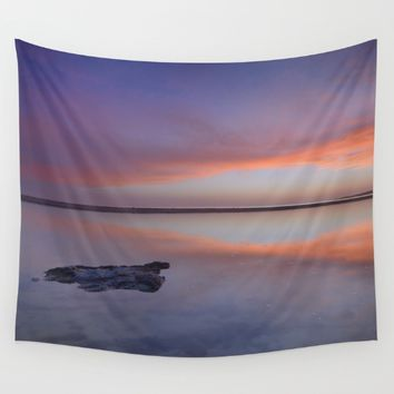 Purple reflections at the sea. Bolonia Wall Tapestry by Guido Montañés