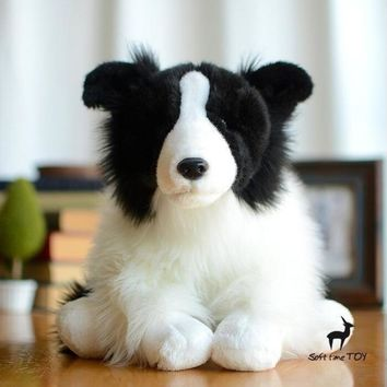 Border Collie Dog Stuffed Animal Plush Toy 12""