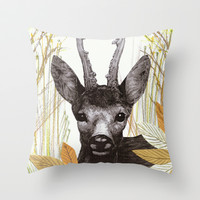 among the leaves (morning) Throw Pillow by Federico Faggion