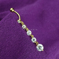 belly ring - belly button ring - belly piercing - belly jewelry - dangle belly ring gold - belly ring 14g - simple base modern