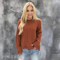Stay on Course Knit Sweater Top
