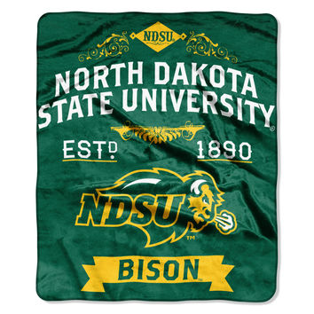 "North Dakota State College """"Retro"""" 50x60 Raschel Throw"