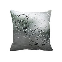 Vintage Water Drop Throw Pillow