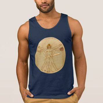 Leonardo Vitruvian Man As American Football Player Tank Top