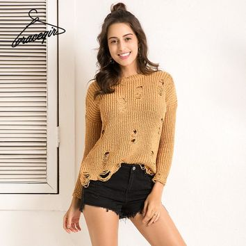 Winter Women Sweater Series Autumn Fashion Hollow Out Jumper Thick Pullovers Female