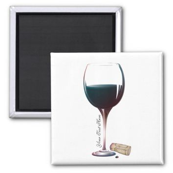 Wine Glass Art Personalised Logo Magnet