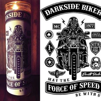 Star Wars Rogue One, Scented  Candle, Prayer Candle, Gift Idea, Good Vibes Only, Gifts for Him, Harley Davidson, Best Scented Candles, Biker