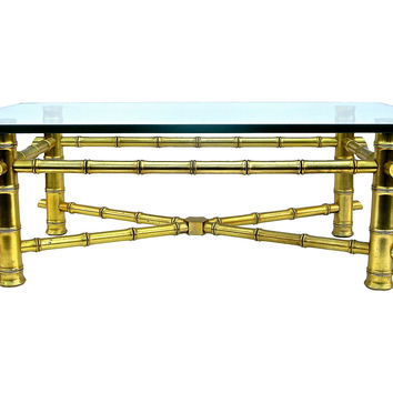 Gilt  Faux-Bamboo  Coffee Table