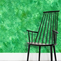 'Bright green swirls doodles' Wallpaper by Savousepate on miPic