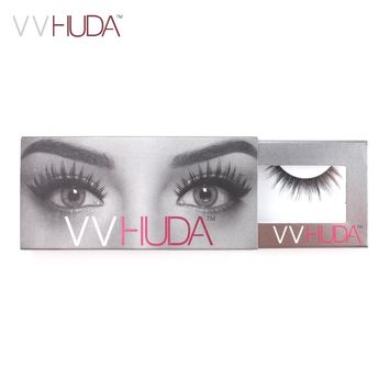 VVHUDA False Eyelashes 3D Mink Collection Natural Fibers Long Thick Volume Reusable Premium Extension Real Fake Eye Fur Lashes