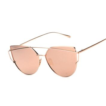 Rosegold Designer Cat eye Sunglasses