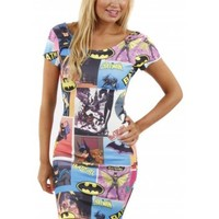 Mini Dress | Batman Print Dress | Comic Print Dress