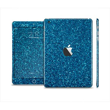 The Blue Sparkly Glitter Ultra Metallic Skin Set for the Apple iPad Mini 4