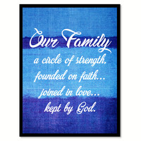 Our Family Kept By God Quote Saying Home Decor Wall Art Gifts 131684