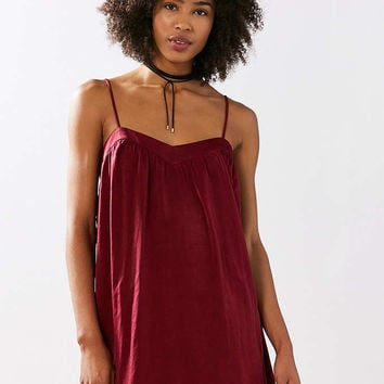 Kimchi Blue Spaghetti Strap Satin Mini Slip Dress - Urban Outfitters